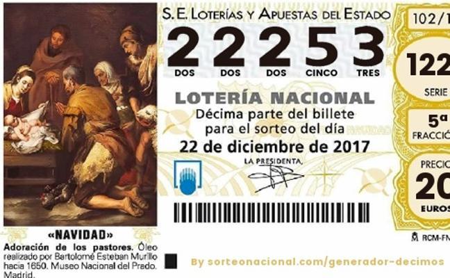 Sorteo Lotería de Navidad: El quinto premio 22.253 deja 36.000 euros en la provincia de Almería