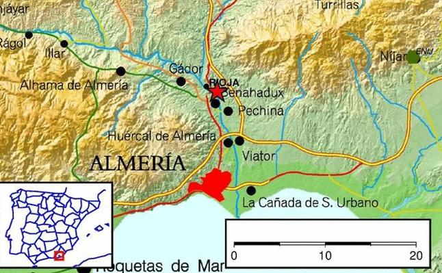 Un terremoto de magnitud 3,7 sacude Almería