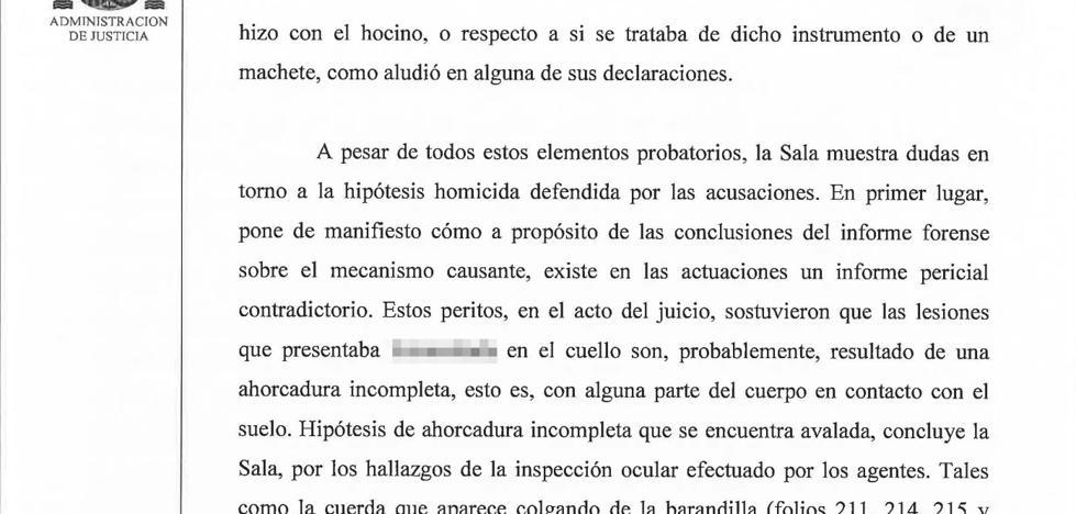 El Supremo avala la absolución del acusado de tratar de ahorcar a su ex