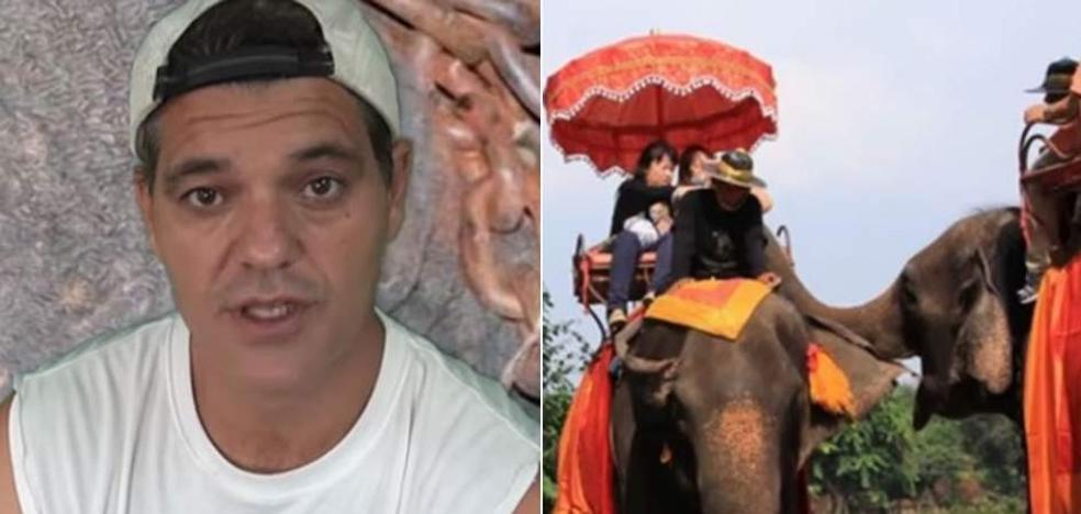 El peligro para Frank Cuesta al denunciar el horror tras el turismo de elefantes en Tailandia