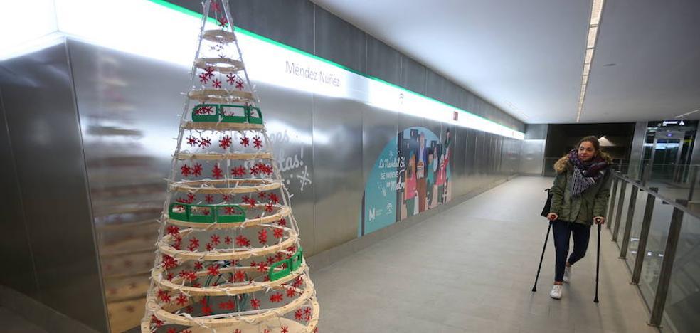 Horario especial y serio aviso del metro de Granada por Navidad