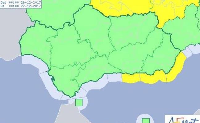 Almería estará hoy en alerta amarilla por fenómenos costeros