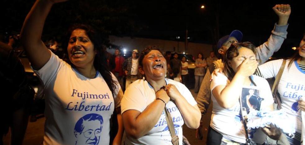 Protestas y celebraciones en Lima por el indulto a Fujimori