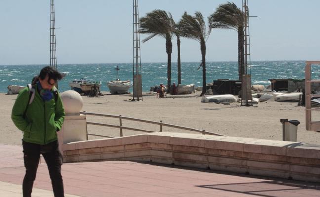 'Bruno' trae a Almería rachas de hasta 90 kilómetros por hora