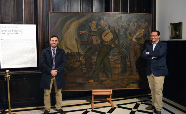 'Los aguinalderos', de Perceval, se podrá ver hasta el día 14 en el Museo Doña Pakyta