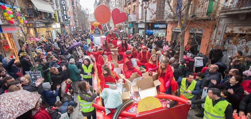 La cabalgata de los Reyes Magos de Granada mantiene su horario pero recortará el recorrido si llueve
