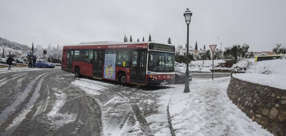 La nieve paralizó la capital y buena parte de la provincia durante cinco horas