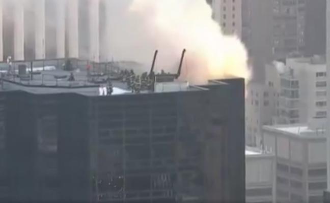Fuego en la famosa Torre Trump de Nueva York