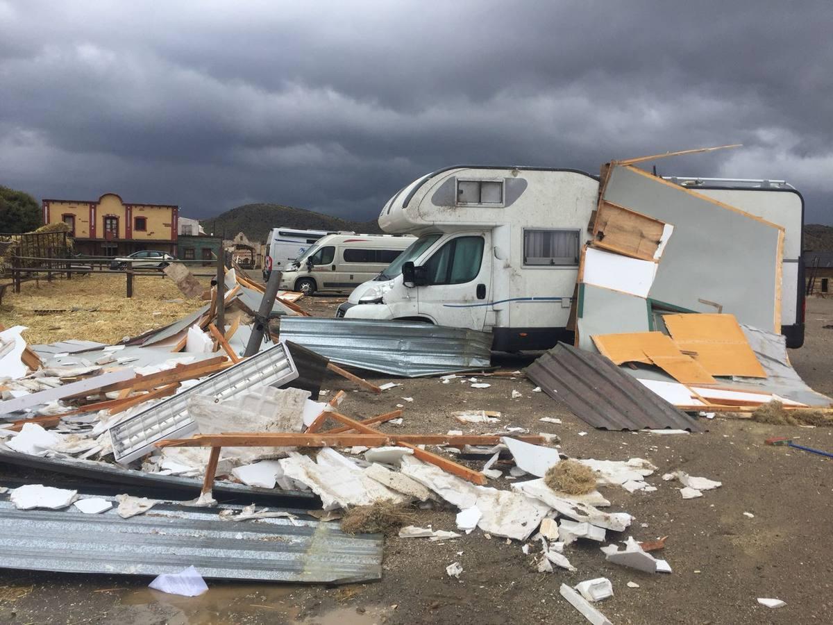 Así quedaron los estudios Fort Bravo tras el paso del tornado