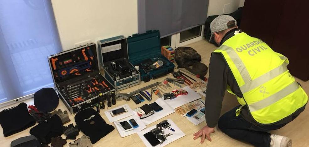 Detenidos por robar camiones en las principales áreas de servicio de Jaén