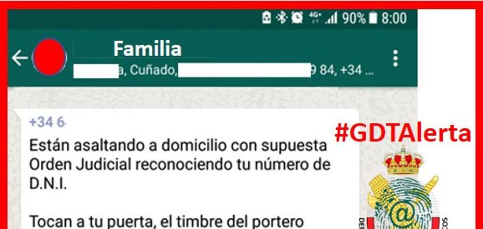 La Guardia Civil advierte sobre la cadena de Whatsapp que invade España: el robo en tu casa