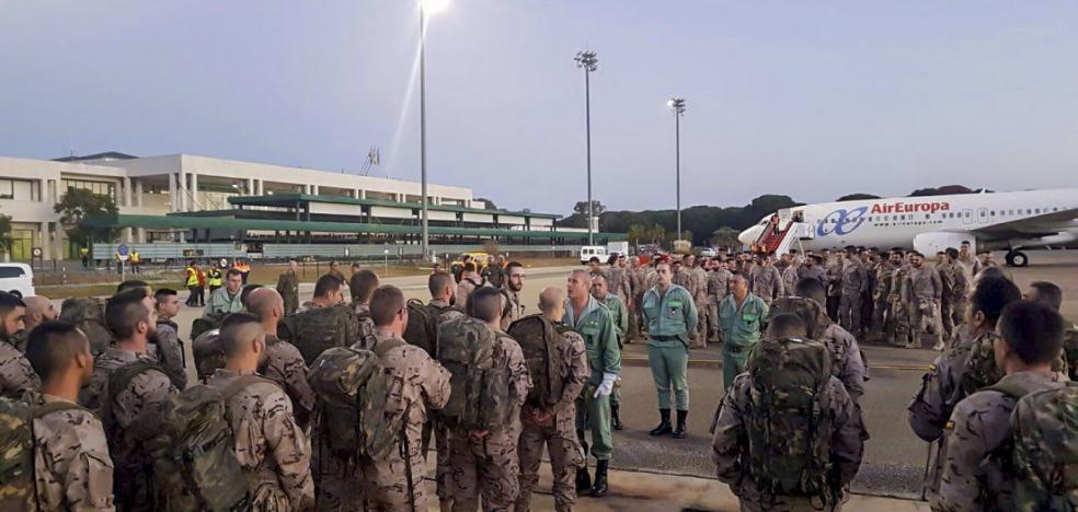 Un nuevo contingente legionario partió ayer hacia Mali