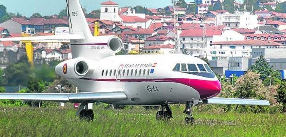 Alerta de colisión en el avión del Rey en pleno vuelo al ir a recogerlo