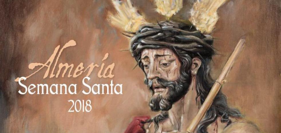 Una pintura del Cristo de Coronación, cartel de la Semana Santa