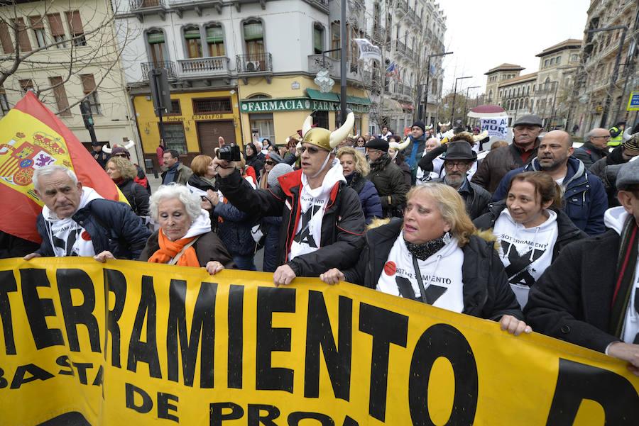 Manifestación contra el aislamiento ferroviario