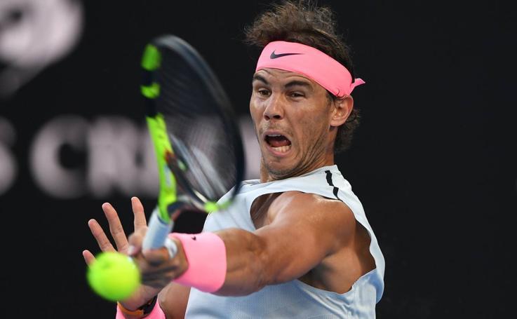 El debut de Rafa Nadal en el Open de Australia, en imágenes