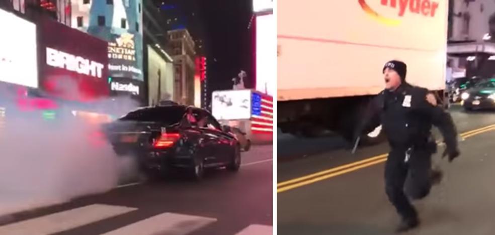 Un Mercedes AMG atropella a un policía en Times Square y se da a la fuga