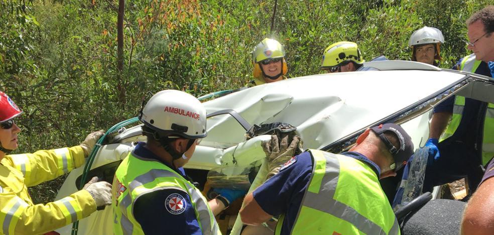Un padre alquila un helicóptero para encontrar a su hijo moribundo tras un accidente de tráfico