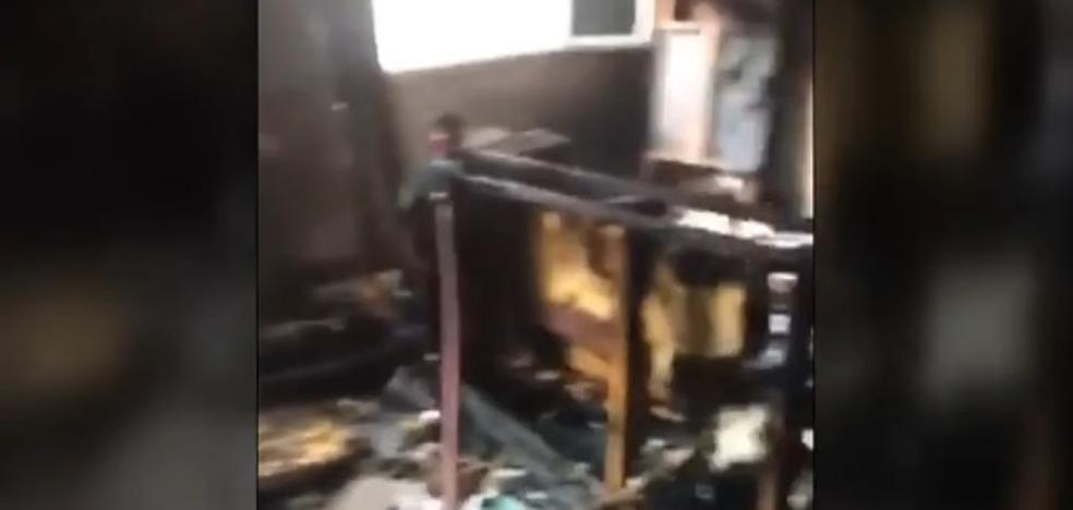 Escapa de morir en un incendio al encerrarse en una habitación