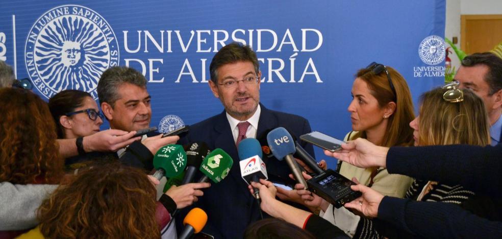 Catalá reconoce la carga judicial y espera que los nuevos juzgados mejoren la situación