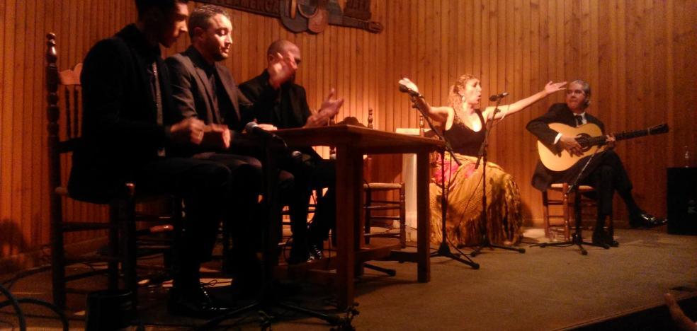 San Antón flamenco en Jaén con Esperanza Fernández, Jesús Méndez y Miguel A. Cortés