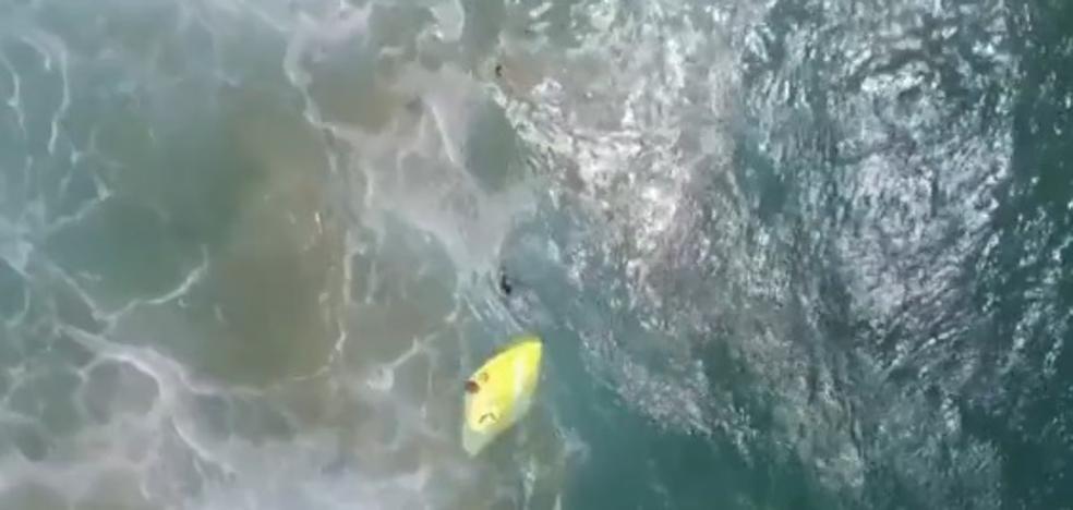 El dron 'vigilante de la playa' que ha salvado la vida de dos chicos