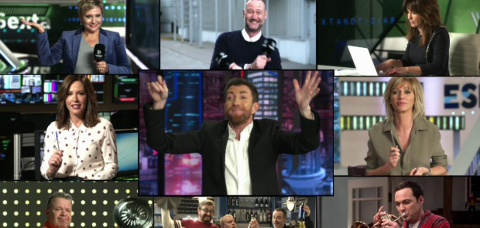 El 'La, la, land' de famosos de Antena 3 con Pablo Motos a la cabeza