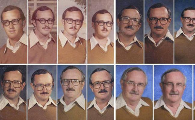 El profesor que ha utilizado la misma ropa para su foto del anuario durante 40 años