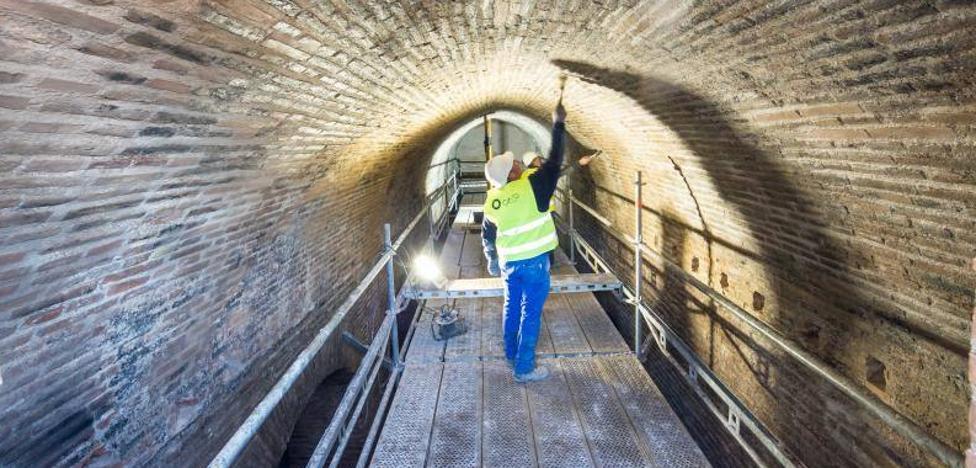 La restauración de Torres Bermejas saca a la luz la estructura original del siglo XIII