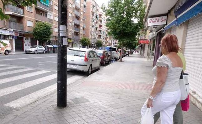 El eje Arabial-Palencia tendrá aceras más amplias y un carril reservado para bus y bicis