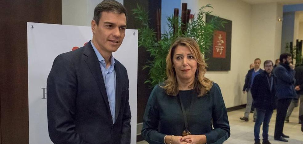 """Pedro Sánchez hace guiños de acercamiento a Susana Díaz: """"Hay que escucharla porque suele atinar en sus opiniones"""""""
