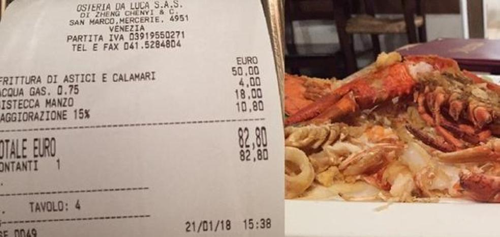 1.145 euros por cuatro filetes y un pescado: el 'sablazo' en un bar que asombra en las redes