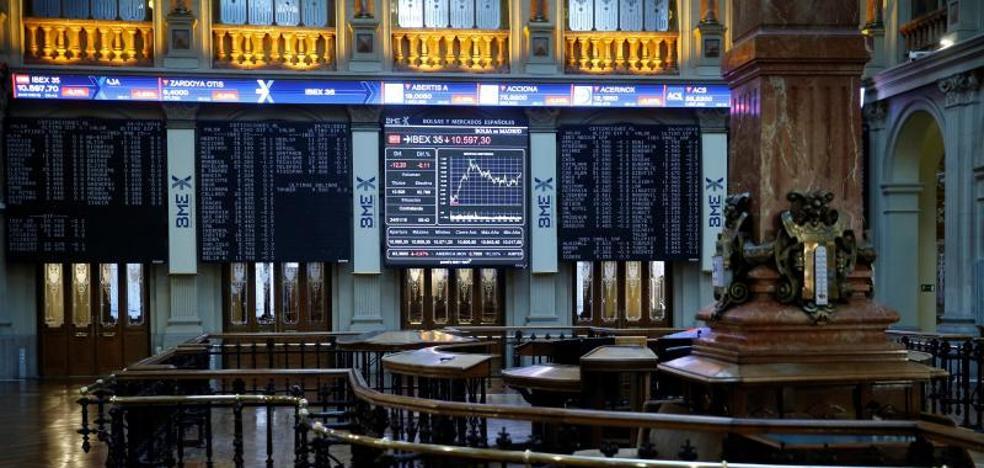 El Ibex-35 pierde los 10.600 con sólo cuatro de sus valores en verde