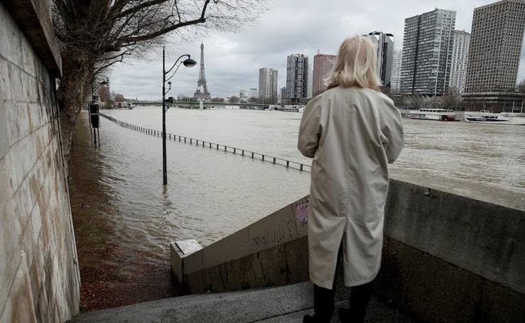 Las fotos del río Sena, desbordado en París