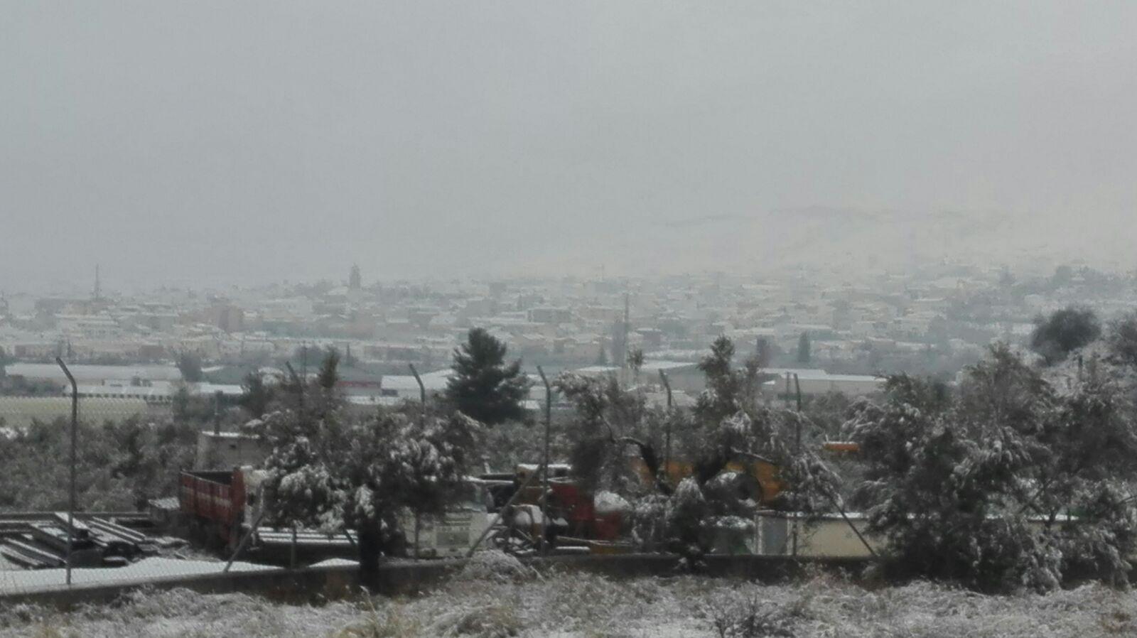Domingo de nieve en la provincia de Granada