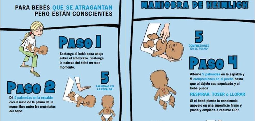 ¿Cómo saber si un bebé se atraganta? ¿Qué debes hacer?