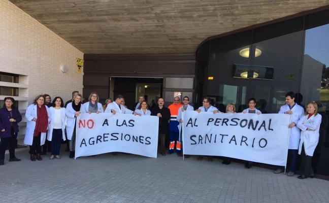 Protestas de los sanitarios de Bailén y Baños por las agresiones