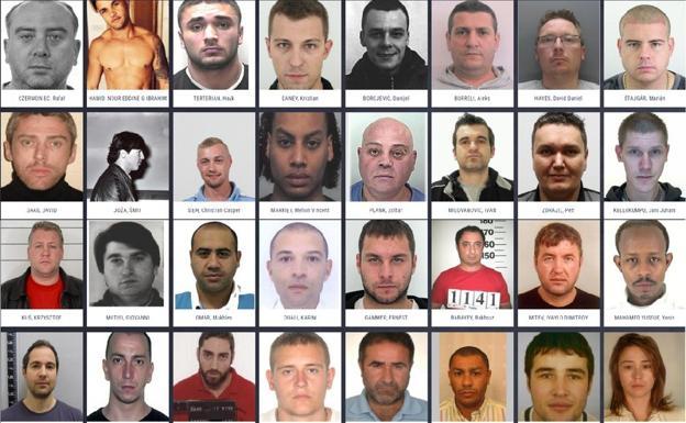 """""""Si los ves, llámanos"""": La Guardia Civil difunde los 60 delincuentes más buscados en Europa"""