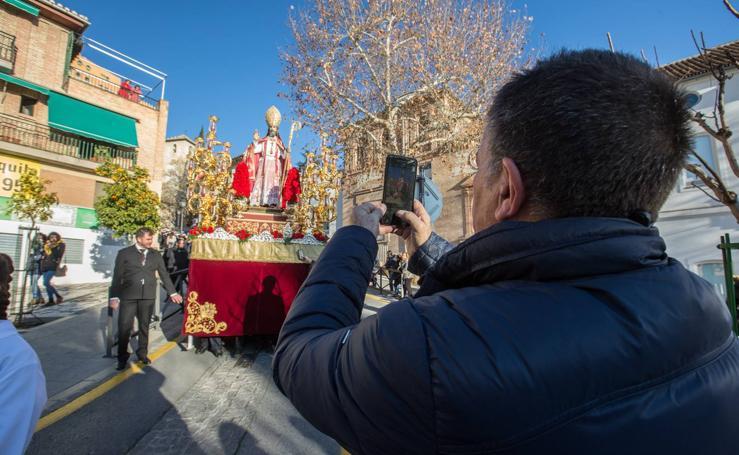 La procesión de San Cecilio, en imágenes