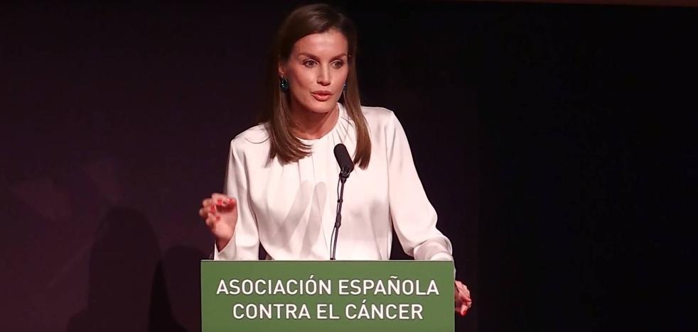 """El emocionante discurso de la Reina Letizia: """"Una persona a la que quiero ha sido diagnosticada de cáncer"""""""