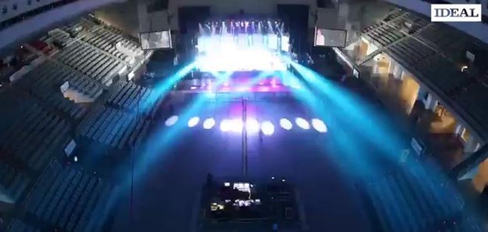 Del concierto de El Barrio a la final del Covirán en doce horas: espectacular transformación del Palacio de Deportes