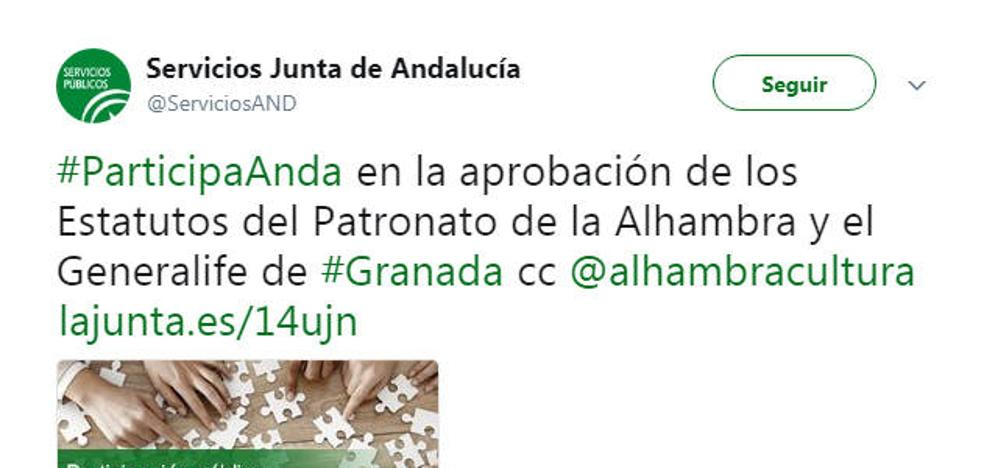 "El PP pide detalles sobre la reforma ""exprés"" de los estatutos de la Alhambra"