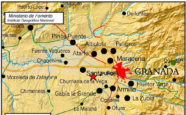 Un terremoto de magnitud 3 alerta a Granada