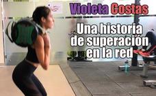 La historia de superación de Violeta Costas, la youtuber granadina: «Dejé los tranquilizantes gracias al fitness»