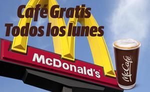 Así puedes tener tu café gratis los lunes en los McDonald's de toda España