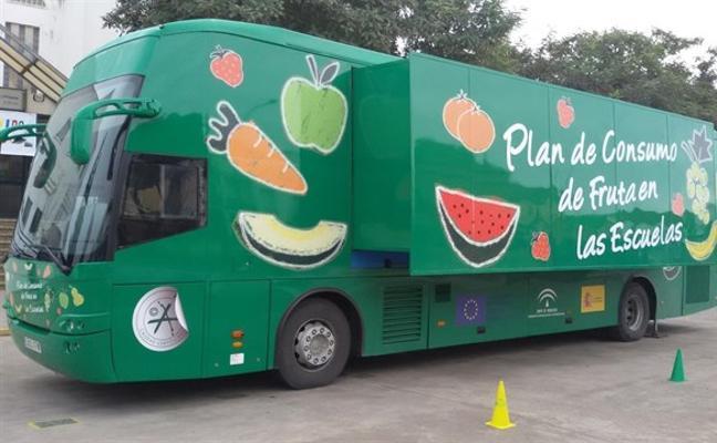 El 'Frutibús' visitará 25 colegios de Jaén para enseñar a los niños una dieta equilibrada