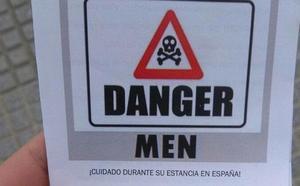 «¡Peligro, hombres!»: el polémico panfleto que se reparte por las calles