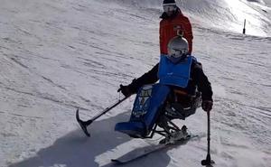 El esquí no tiene barreras en Sierra Nevada