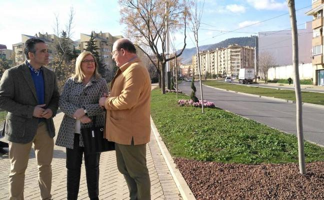 Nuevos jardines en la Carretera de Madrid en Jaén