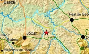 Registrado un terremoto de magnitud 2,9 con epicentro en Jódar